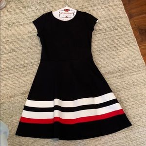 Gorgeous black, red, and white dress!!